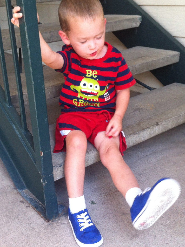 Pete the Cat shoes, July 2013