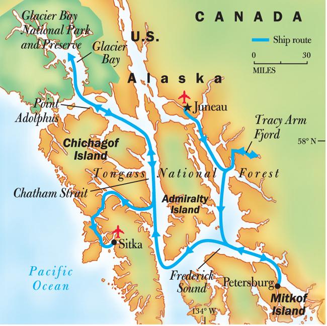 Frederick Sound Alaska Map.Alaska S Wilderness Mks Con Brio