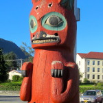 Detail of Tlingit Totem Pole, Sitka