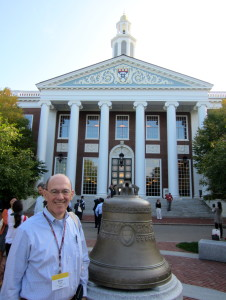 Steve at Baker Library HBS