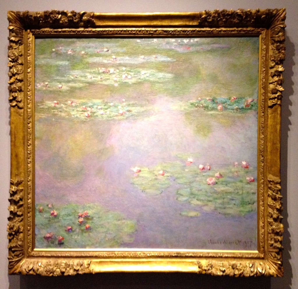 monet's water lilies and van gogh's