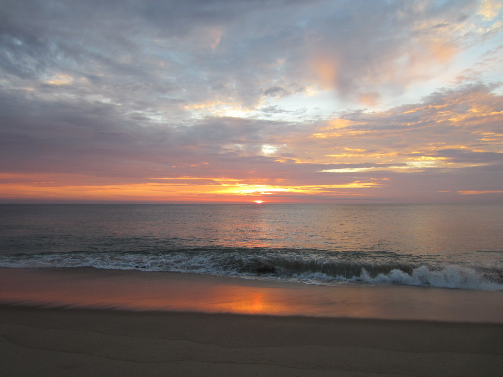 Sunrise, Nauset Beach, Cape Cod, July 2012