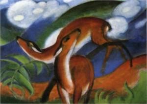The Red Deer, Franz Marc