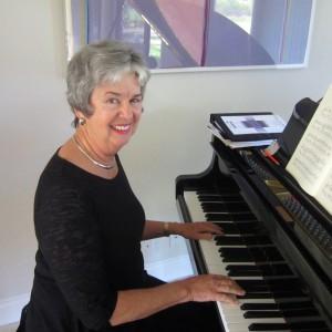 Martha at the piano