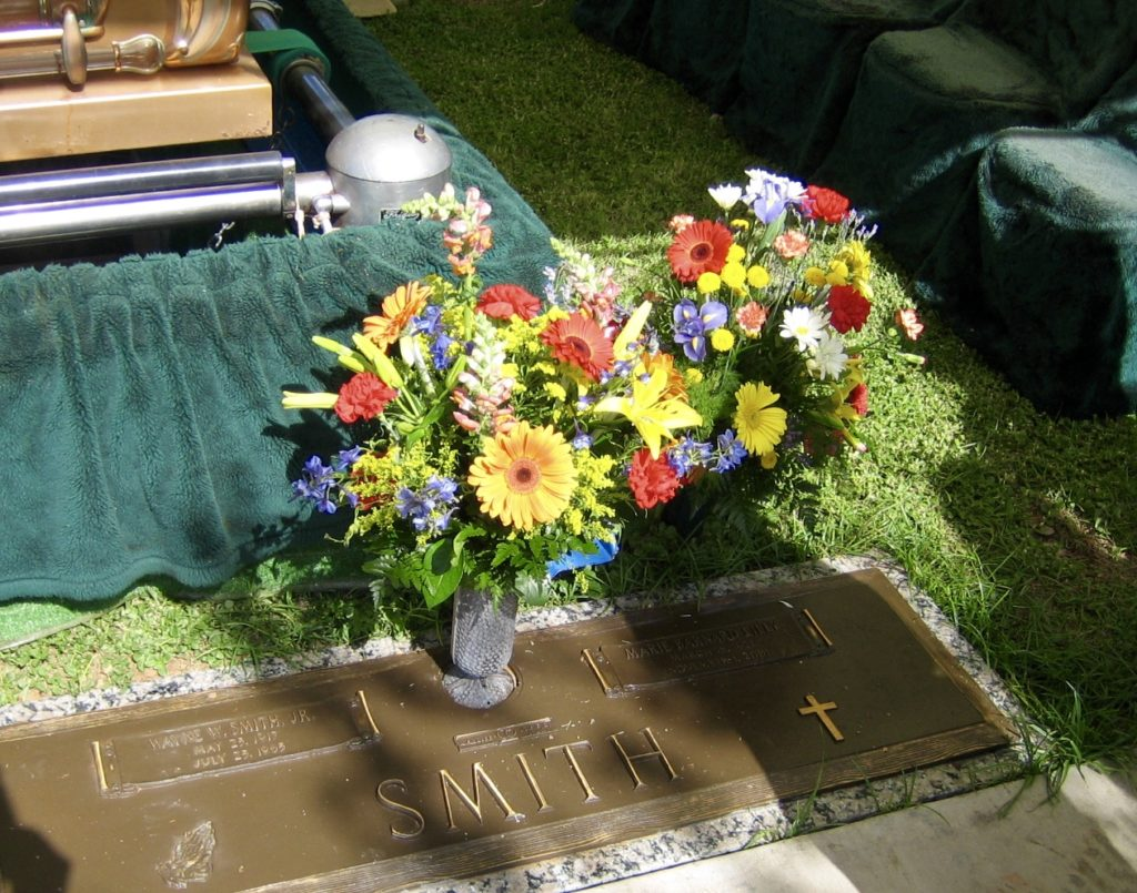 Smith Family gravesite, Odessa. Wayne's casket was moved from Dallas to Odessa in August, 2005