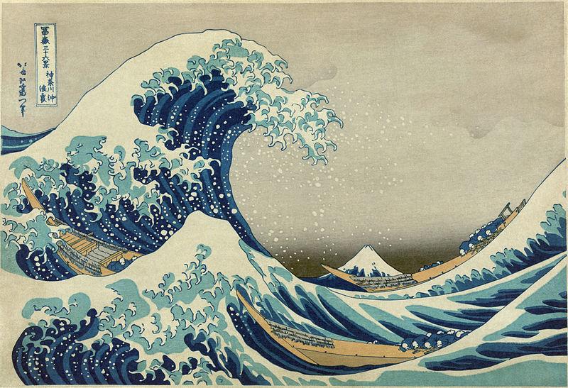 Great Wave off Kanazawa, Hokusai
