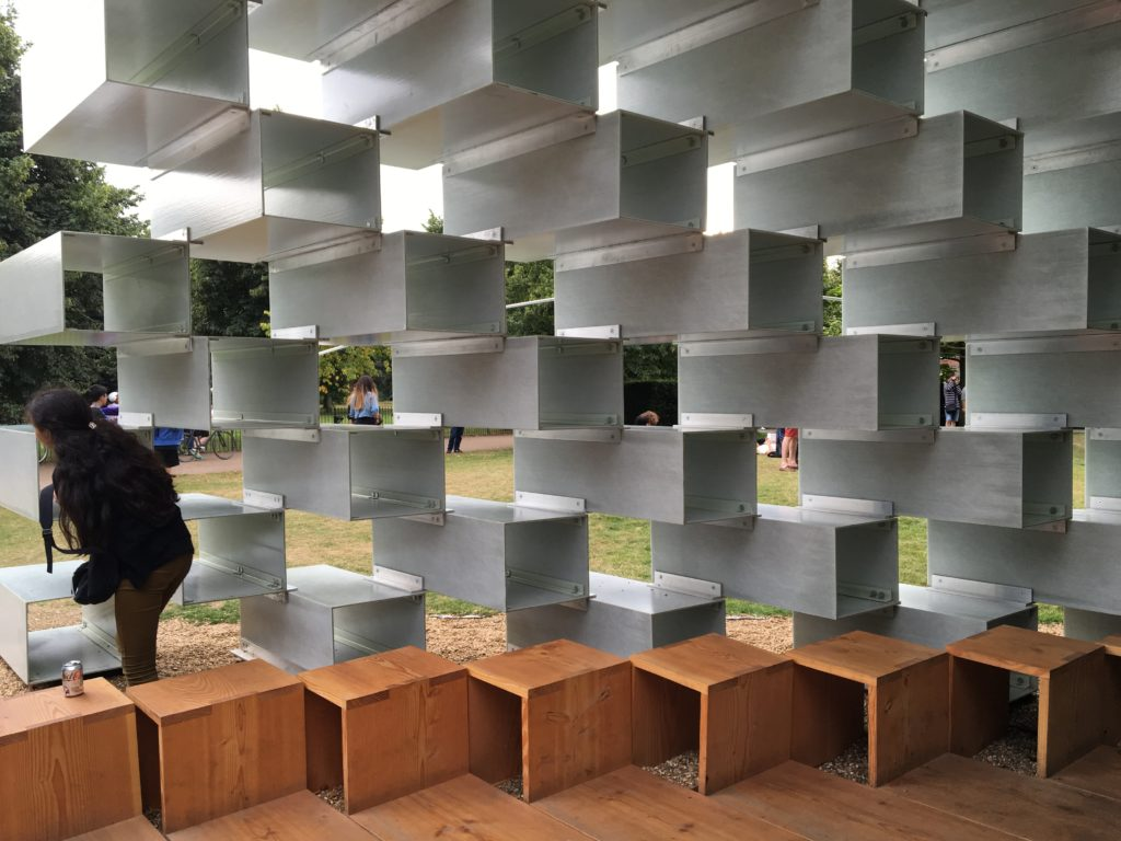 Serpentine Pavilion, interior detail