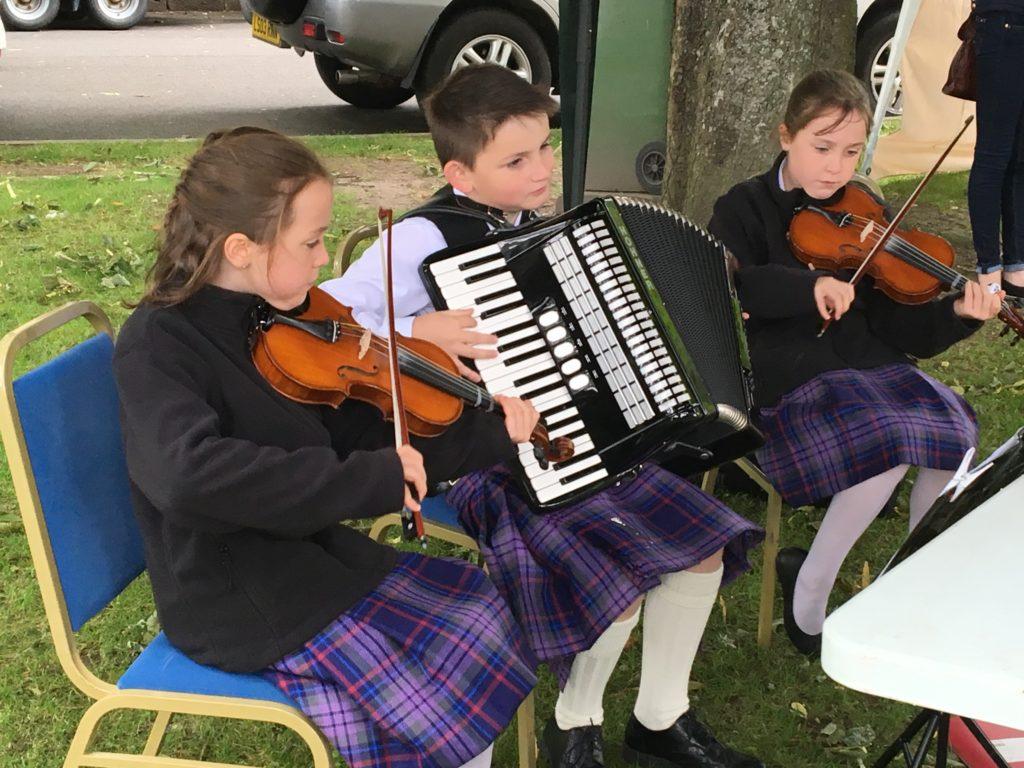 Musical kids in Dornoch