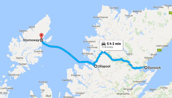 Dornoch to Ullapool to Stornoway