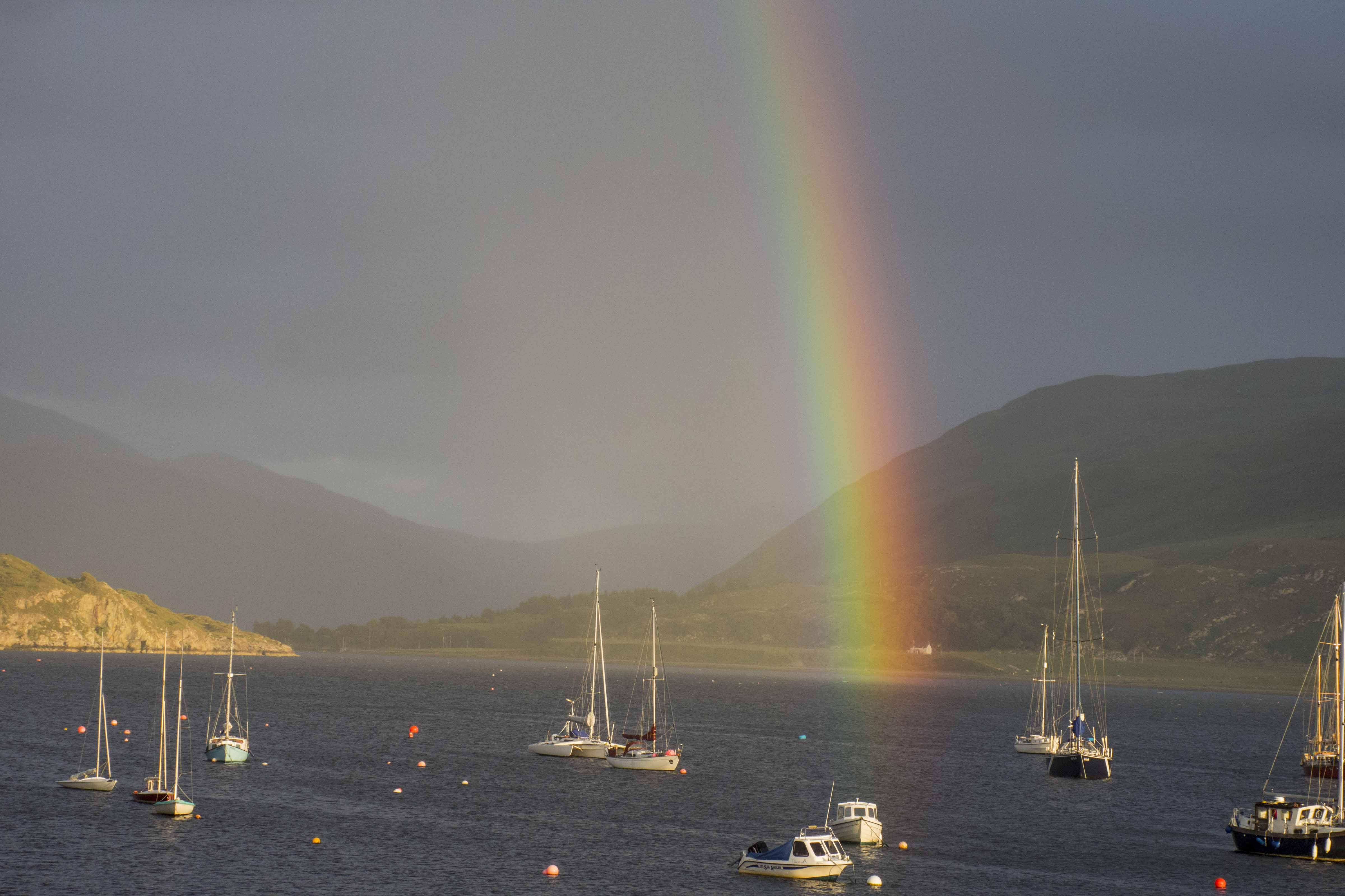 Ullapool Rainbow by Will Hamilton