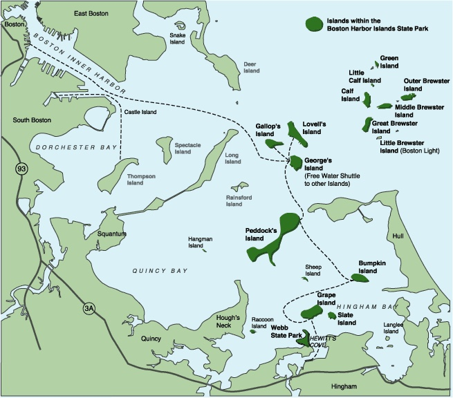 Boston Harbor map